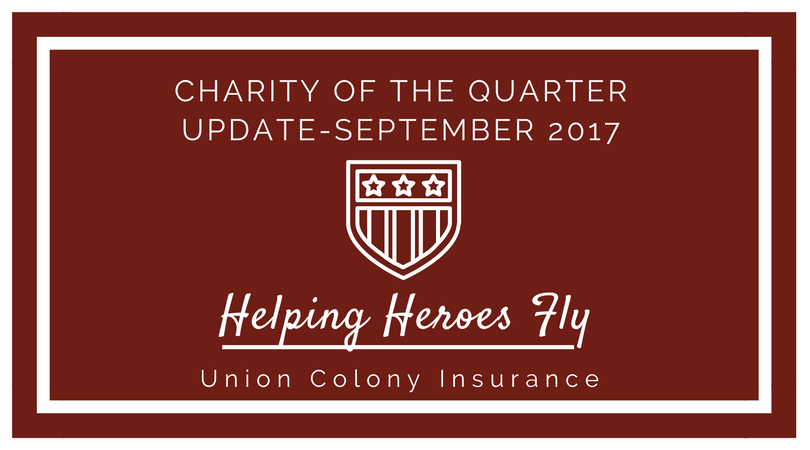 Charity of the Quarter Update - September 2017